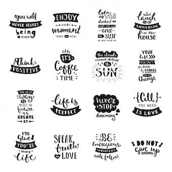 Kolekcja ręcznie napisane cytaty