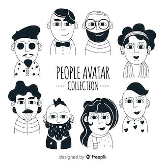 Kolekcja ręcznie rysowane awatara