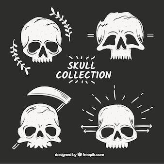 Kolekcja ręcznie rysowane czaszki