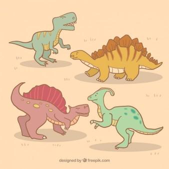 Kolekcja ręcznie rysowane dinozaura