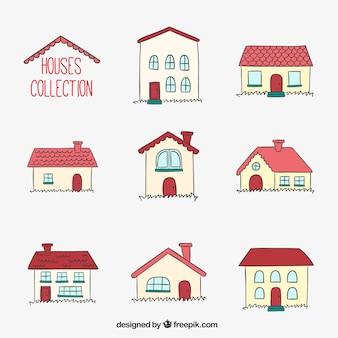 Kolekcja ręcznie rysowane domy