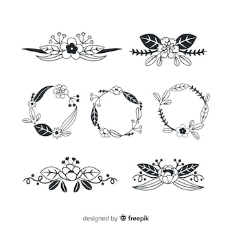Kolekcja ręcznie rysowane elementy dekoracji