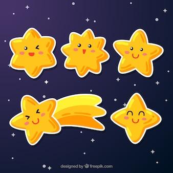 Kolekcja ręcznie rysowane gwiazdki