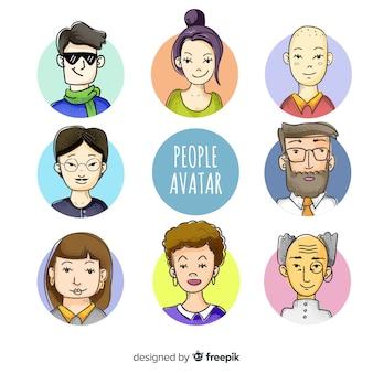 Kolekcja ręcznie rysowane osób avatar