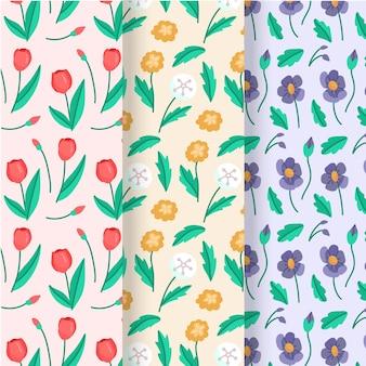 Kolekcja ręcznie rysowane wzór wiosna