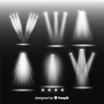Kolekcja reflektorów teatralnych