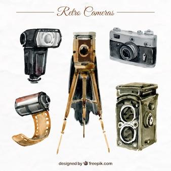 Kolekcja retro kamery