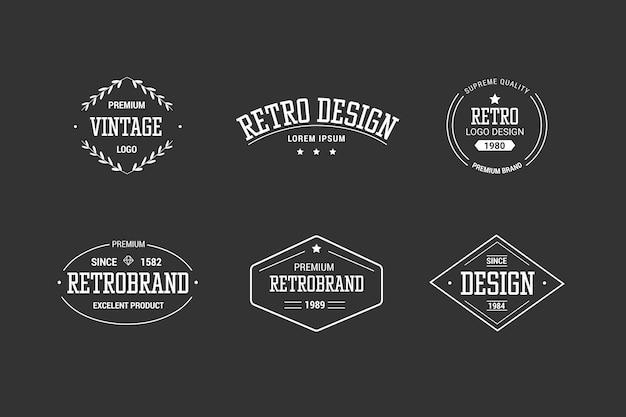 Kolekcja retro logo firmy