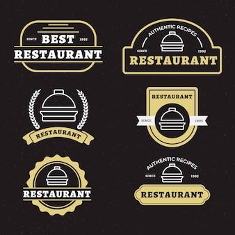 Kolekcja retro logo restauracji