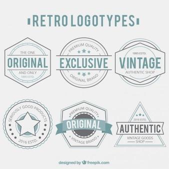 Kolekcja retro logotypy