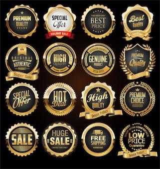 Kolekcja retro odznaki i etykiety