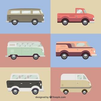 Kolekcja retro samochody dostawcze