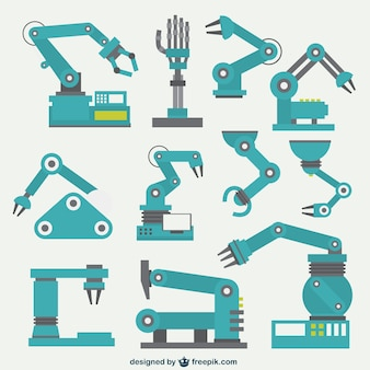 Kolekcja robotyczne ramiona