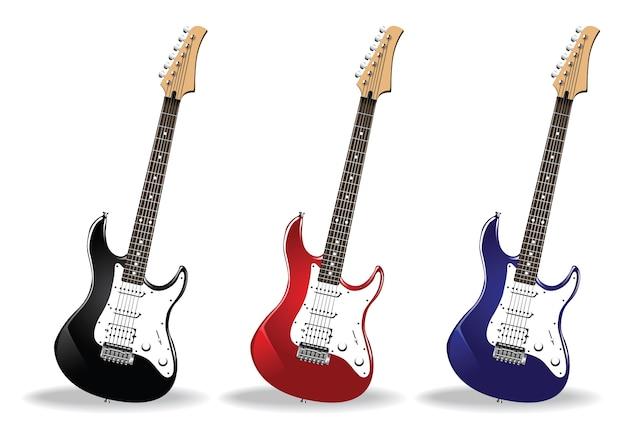 Kolekcja rockowej gitary