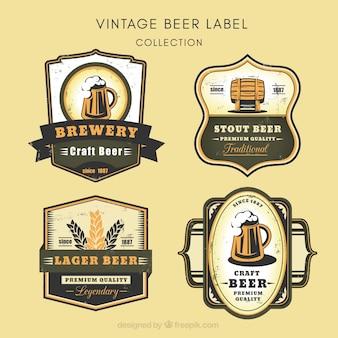 Kolekcja rocznika piwo naklejek