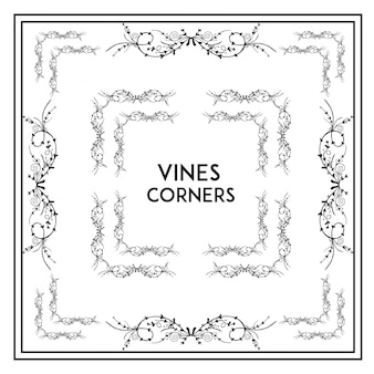 Kolekcja rogatek winorośli