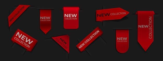 Kolekcja różnych eleganckich wstążek