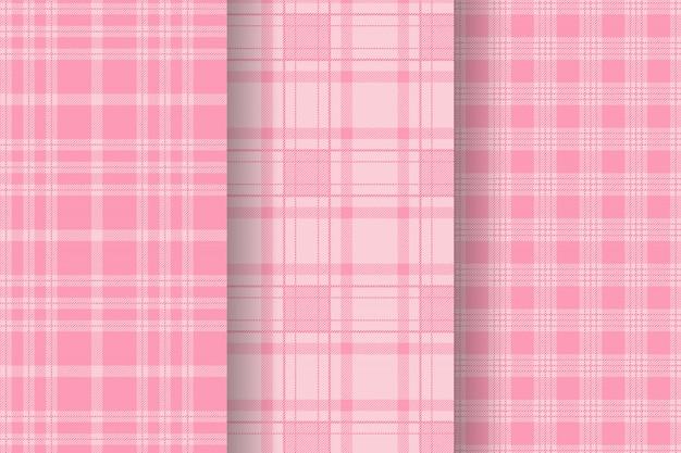 Kolekcja różowa kratka w kratę