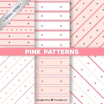 Kolekcja różowe wzory