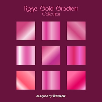 Kolekcja różowego złota gradientu