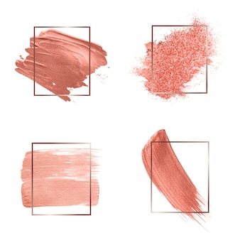 Kolekcja różowych pociągnięć pędzlem