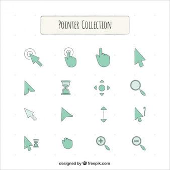 Kolekcja rysowane ręcznie ikon