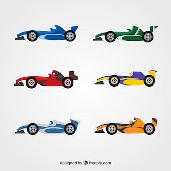 Kolekcja samochodów formuły 1