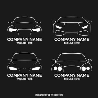 Kolekcja samochodów płaskich logo