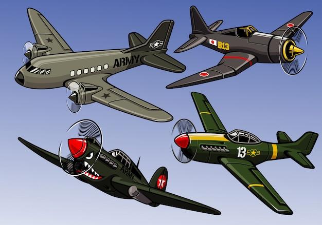 Kolekcja samolotów wojskowych z okresu ii wojny światowej