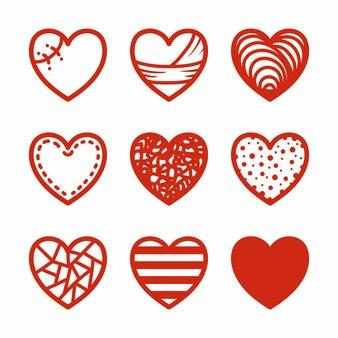 Kolekcja serc