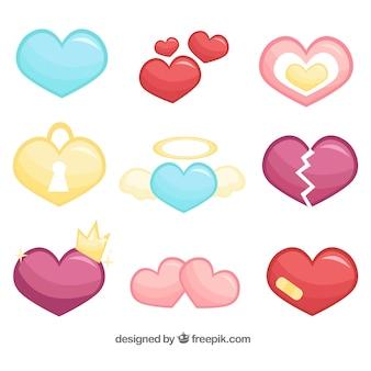 Kolekcja serca z elementów