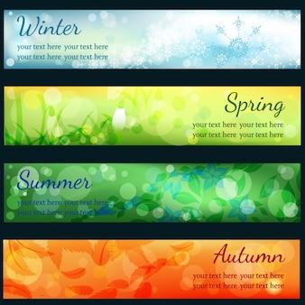 Kolekcja sezonowych transparenty