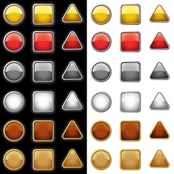 Kolekcja shiny buttons