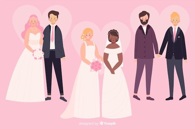 Kolekcja ślubna płaski para