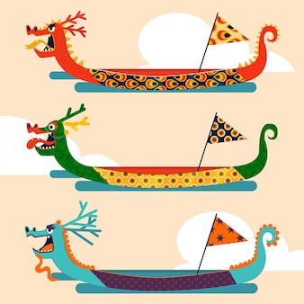 Kolekcja smoczych łodzi