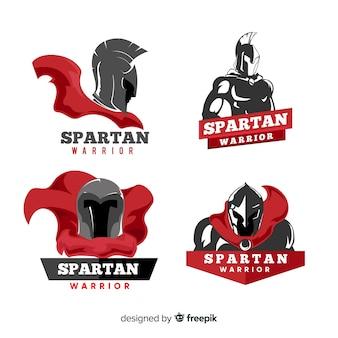 Kolekcja spartańskich etykiet