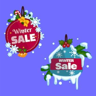Kolekcja sprzedaży odznak zimowych.