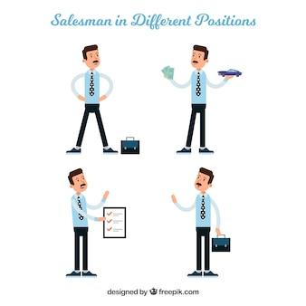 Kolekcja sprzedawcy w różnych pozycjach