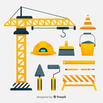 Kolekcja sprzętu budowlanego