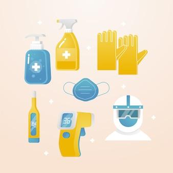 Kolekcja sprzętu do ochrony przed wirusami