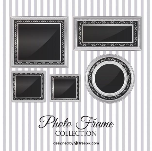 Kolekcja srebrne ramki do zdjęć