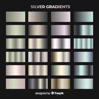 Kolekcja srebrnego gradientu