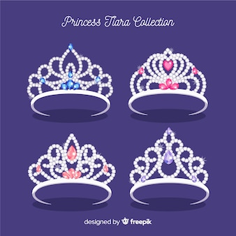 Kolekcja srebrnej księżniczki z tiarą