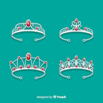 Kolekcja srebrnej tiary księżniczki