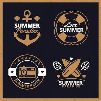 Kolekcja starych etykiet letnich