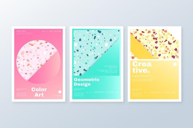 Kolekcja streszczenie kolorowe okładki