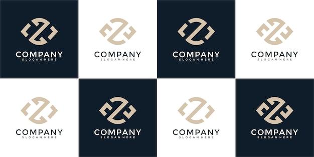 Kolekcja streszczenie litera z szablon projektu logo