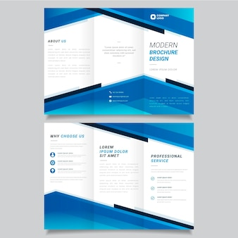 Kolekcja streszczenie szablon broszura rozdawać