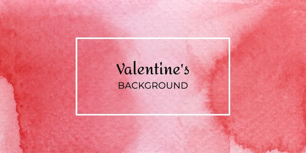 Kolekcja streszczenie tło akwarela czerwony valentine web
