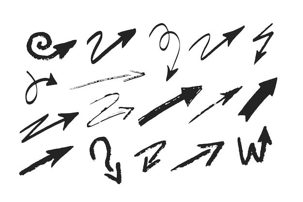 Kolekcja strzałek kreskówek
